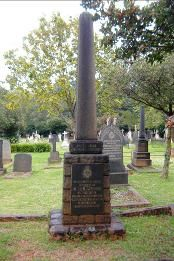 One of the memorials to the Police victims of the Foster Gang in Braamfontein Cemetery