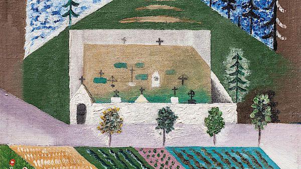 Obraz Josefa Čapka Venkovský hřbitov