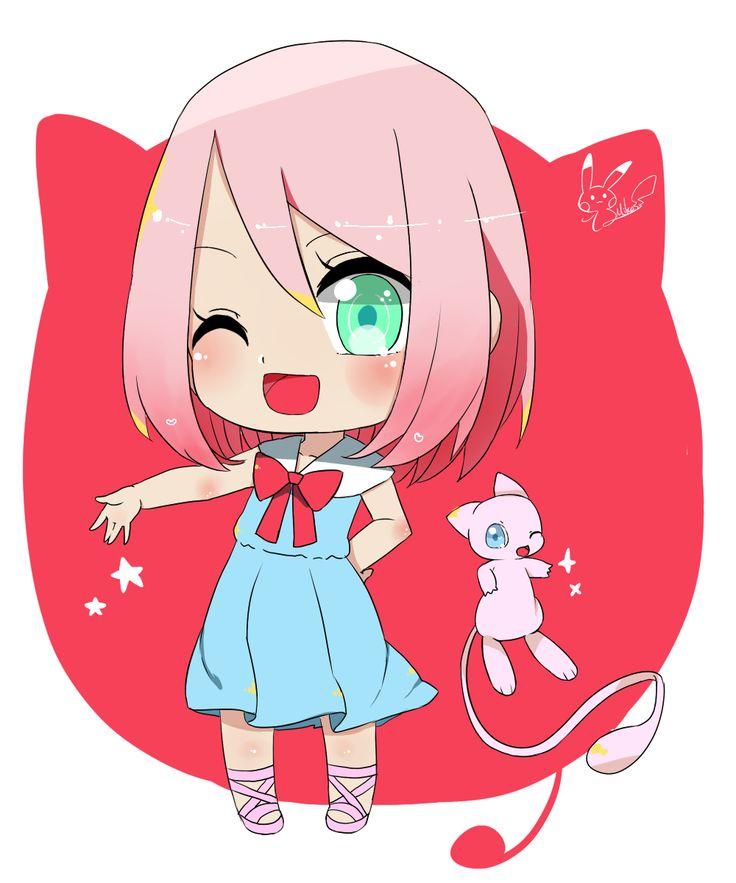 Anime Characters Holding Hands : Pixiv id  naruto pok�mon haruno sakura mew