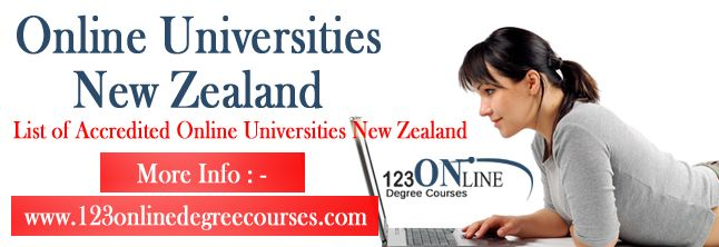 List of Accredited Online Universities New Zealand  Numerous online universities in New Zealand are offering academic facilities to students who are lived across the world and want to continue education in interested field through online education facilities.