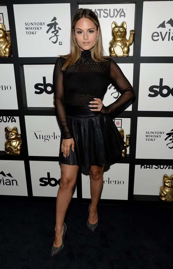 Pia Toscano attends Katsuya Brentwood celebrates a decade