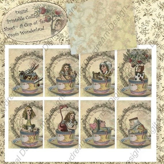 167 best alice in wonderland card tag ideas images on Alice and wonderland art projects