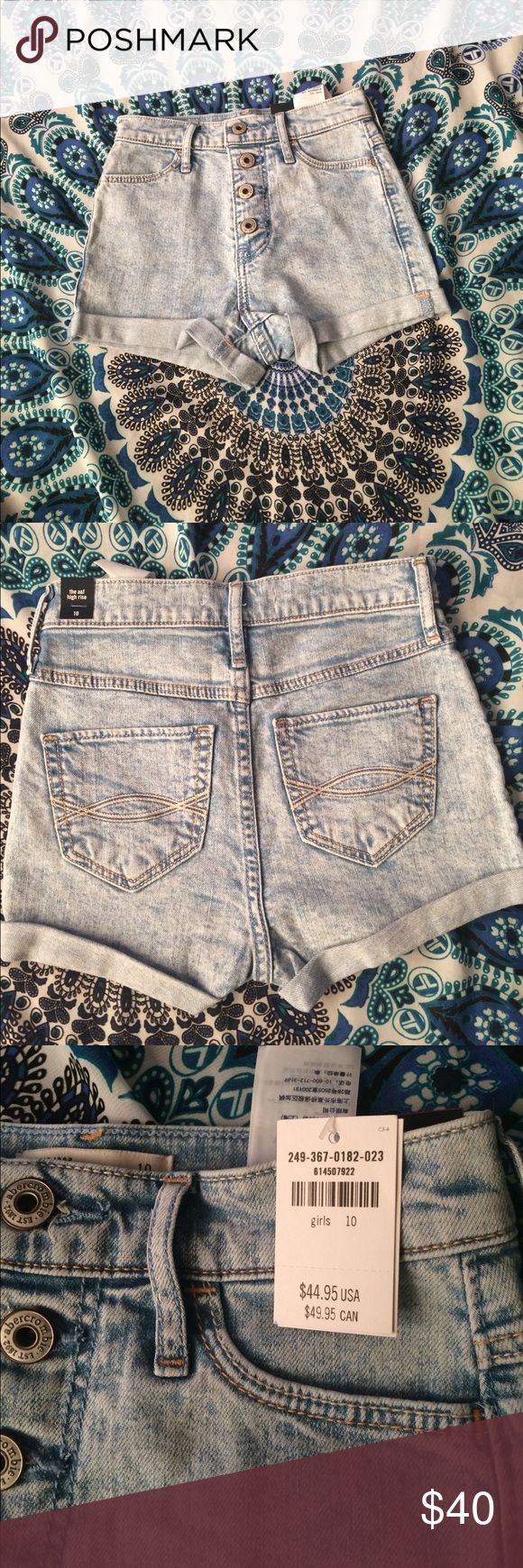 High rise shorts Light wash high rise denim shorts. Abercrombie girls size 10 Abercombie Kids Bottoms Shorts