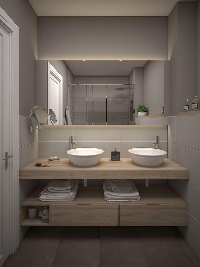✨ Entra en el post para ver ideas para decorar baños modernos. Este baño moderno nos ha encantado. ¡Es hermoso! Para más pines como éste visita nuestro tablero. Ah! ▷ Y no te olvides de pinearlo si te gusta! #baños #decoracion #bathroom #decor