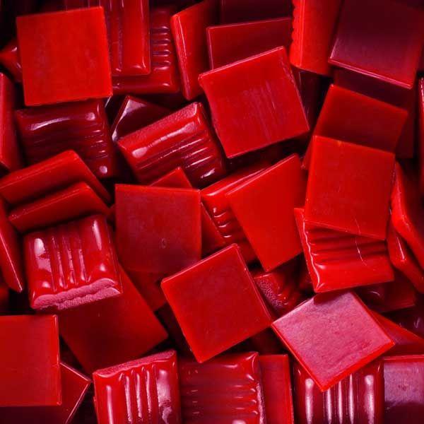 Scarlet vitreous glass mosaic tile Kaleidoscope brand