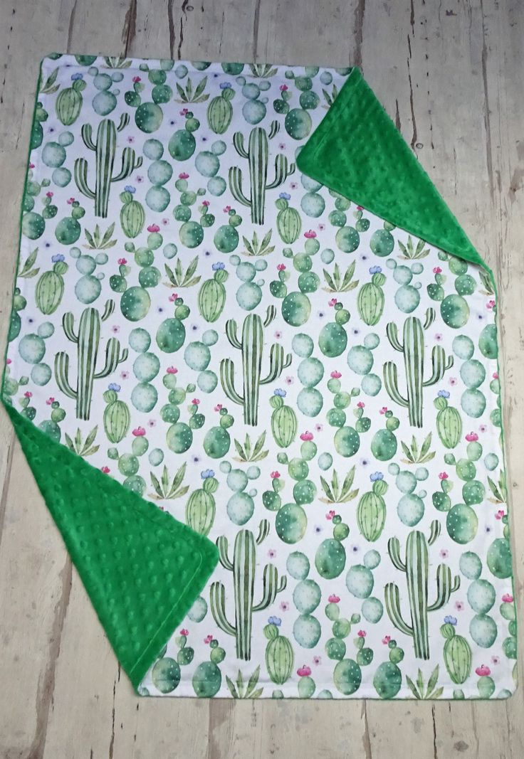 Cactus baby - Cactus blanket - Cactus bedding - Cactus nursery - Gender baby blanket - Ready to ship minky blanket - Organic blanket - Green by HomemadeTale on Etsy
