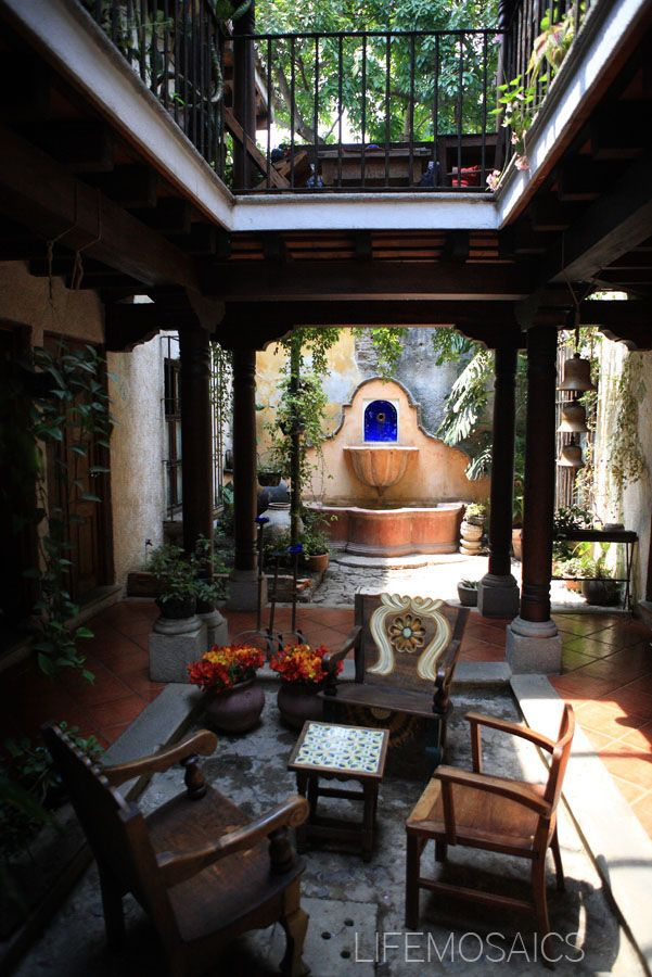 Courtyard Fountain in Spain