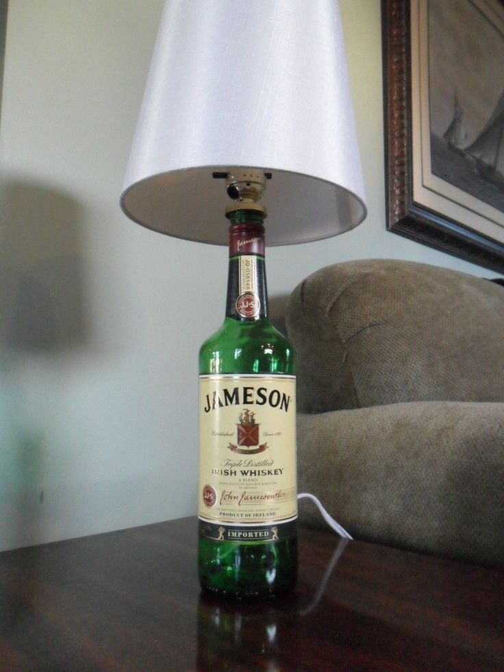 This bar lamp was crafted from a reclaimed 1L Jagermeister bottle. Makes a great addition to your man cave, bar, den, or wherever you drink yourJager. This is a must have for you Jagermeister aficiona