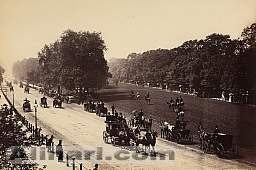 The king's road in Hyde Park, London.