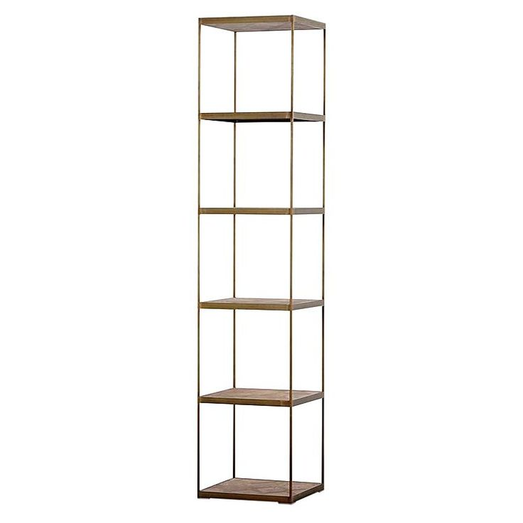 Intensify the luxe look in your space with the metallic finish of the Atticus Bookshelf, Gold from Horgans.