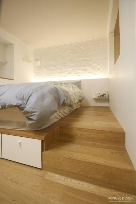 침실: 홍예디자인의 translation missing: kr.style.침실.모던 침실
