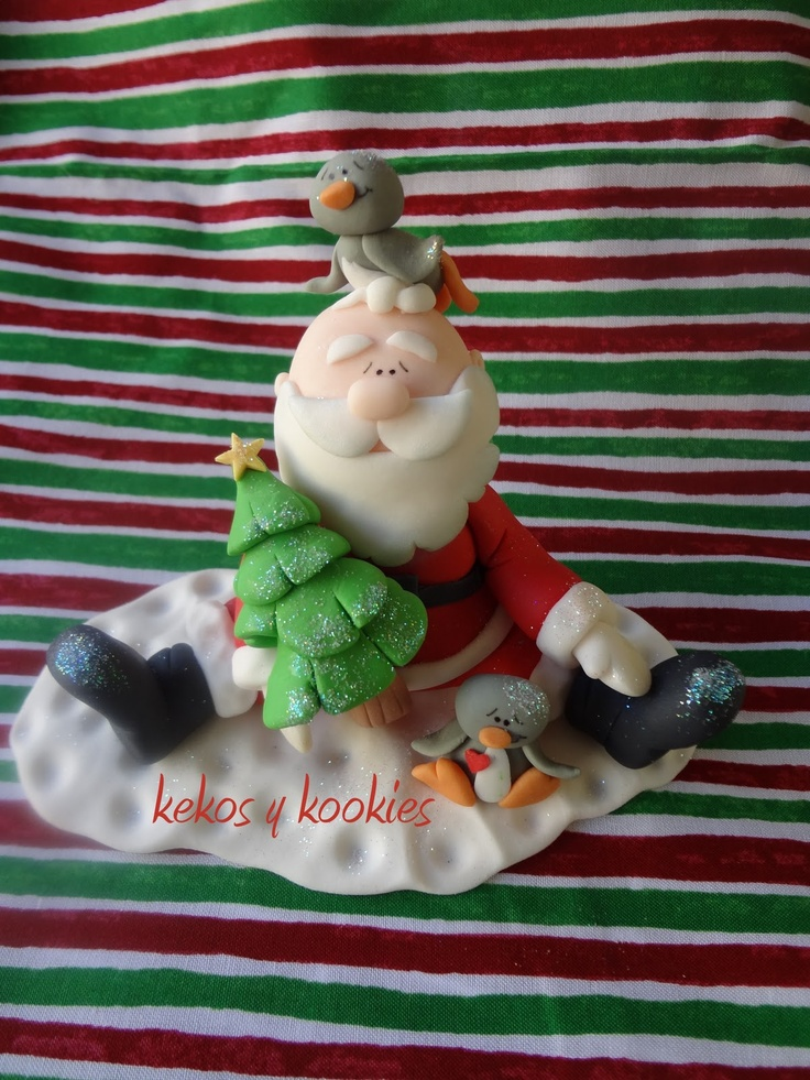 polymer clay porcelana fria pasta francesa masa flexible fimo gum paste pasta goma modelado figurine modelling topper biscuit santa