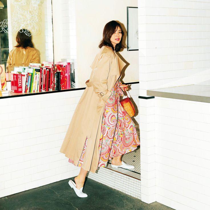 ガウントレンチコートはマンネリしがちな春の救世主アウター! Marisol ONLINE 女っぷり上々!40代をもっとキレイに。