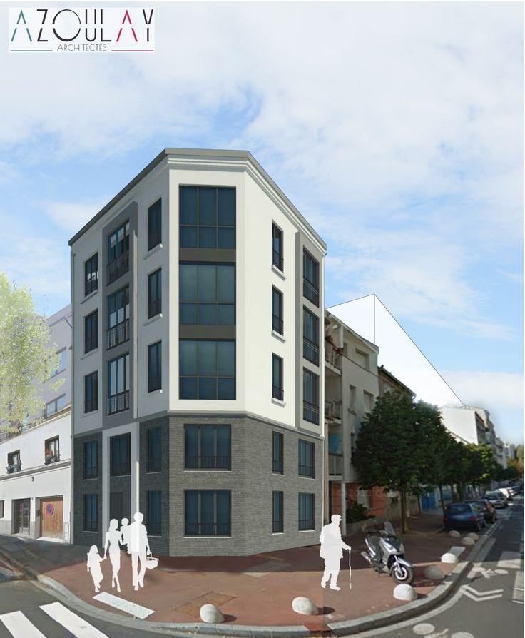 Surélévation d'un immeuble _ Issy-les-Moulineaux  >> Azoulay Architectes