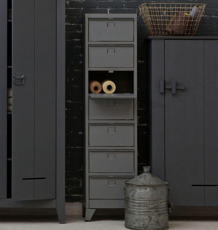 """Metallkommode """"Mats"""" grau   Kleine Räume einrichten   Wohnstile   milanari.com"""