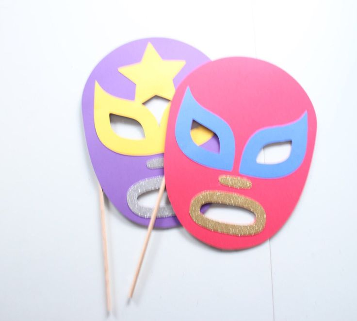 A personal favorite from my Etsy shop https://www.etsy.com/listing/249321014/2pc-lucha-libre-mask-photobooth