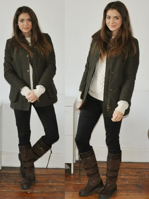 winter style... she has my toggi boots!