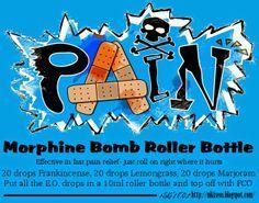 Morphine Bomb roller bottle recipe using doterra essential oils