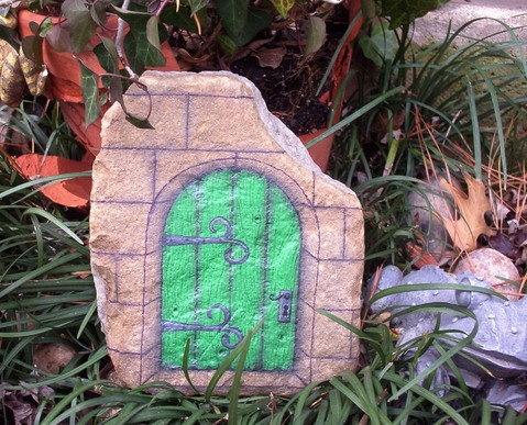 rockpainting View Photo Blue Fairy Door & 28 best Rock Painting Doors images on Pinterest | Painted stones ... pezcame.com