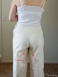 """How to fix pants """"problems"""". Mostly when making your own but some ideas can be used for alterations too. More"""