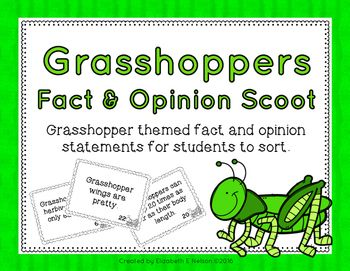 Students reinforce their understanding of fact vs. opinion statements in this fun, fast paced, grasshopper themed activity.