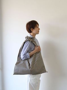 linen shopping bag | matilde size:縦40㎝×横54㎝ 持ち手52㎝(左右共)