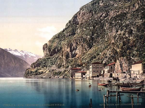 The Ponale Road, Riva, Garda, Lake of, Italy
