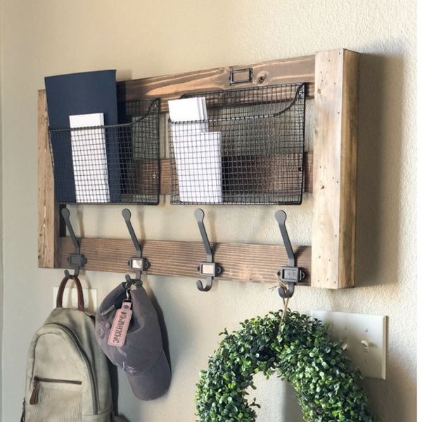 Ryobi Nation Entryway Wall Organizer Free Furniture Plans Entryway Organizer Wall Wall Organizer Diy