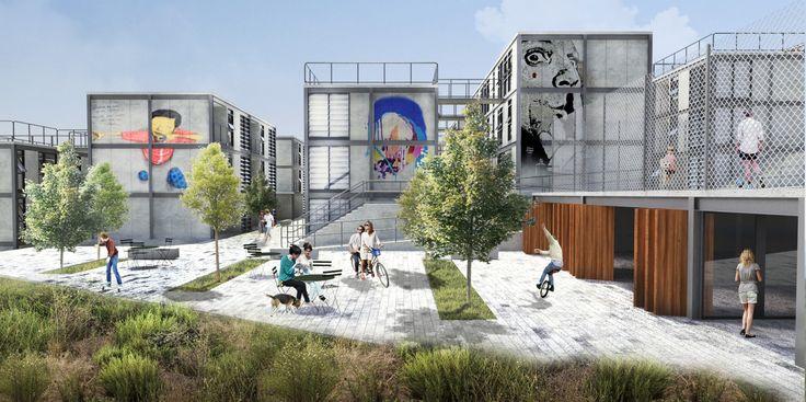 Imagem 1 de 16 da galeria de 5° Lugar no concurso para Moradia Estudantil da Unifesp Osasco / Bacco Arquitetos Associados. Cortesia de Bacco Arquitetos Associados