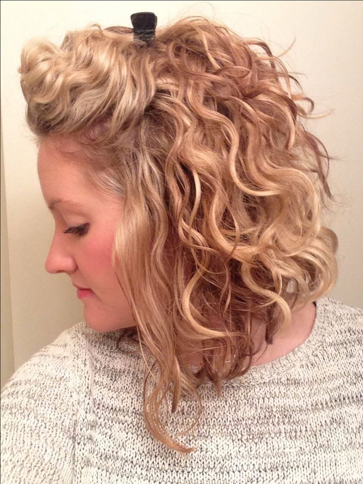 My morning hair routine is SO much easier and faster! Loving this short curly style