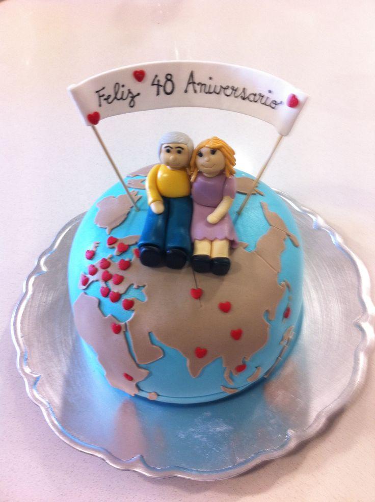Torta 48 años de Matrimonio!!! Y muchos viajes por el mundo!!
