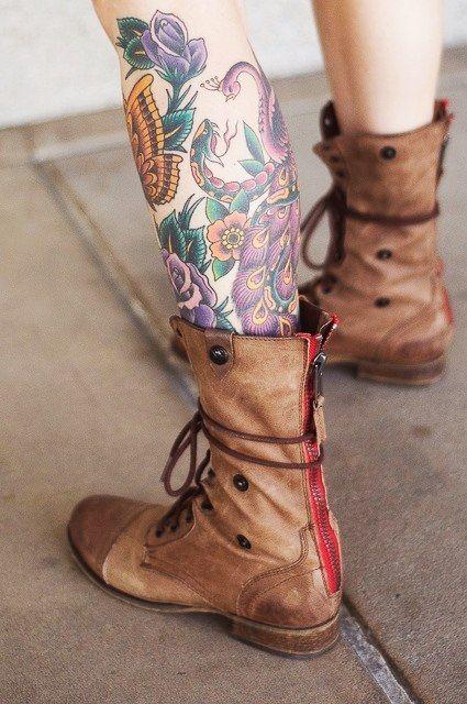 Татуировки на ногах | 685 фотографий