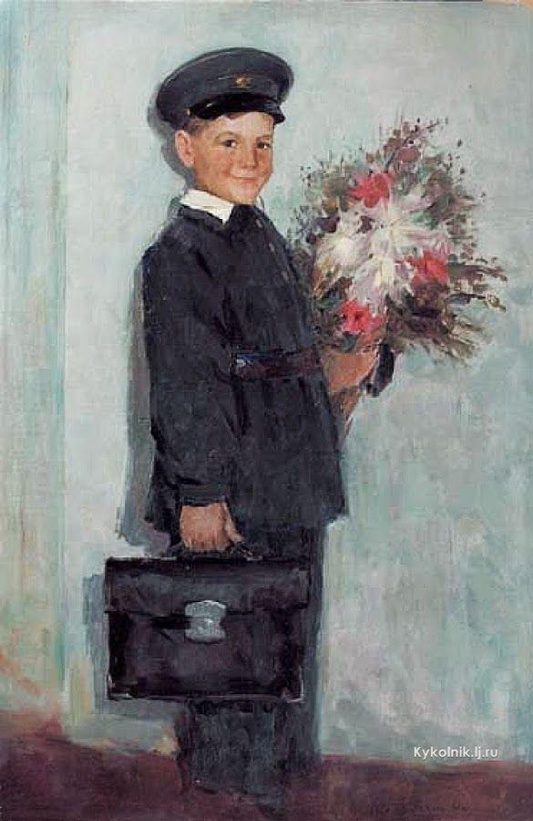 «Первое сентября / First of September» 1961. Квятковский Михаил Людвигович (Украина, 1927-1993)
