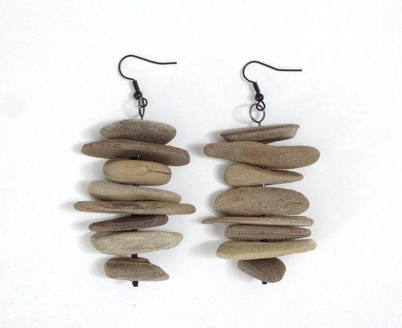 Driftwood Earrings Wood Earrings Handmade by SunsetDriftwood