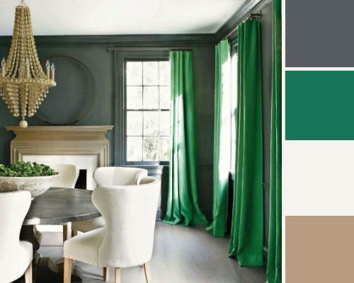 Emerald Green Inspired Colour Palette Using General Paint