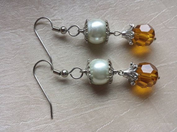 Check out this item in my Etsy shop https://www.etsy.com/listing/233224162/november-birthstone-topaz-earrings-with