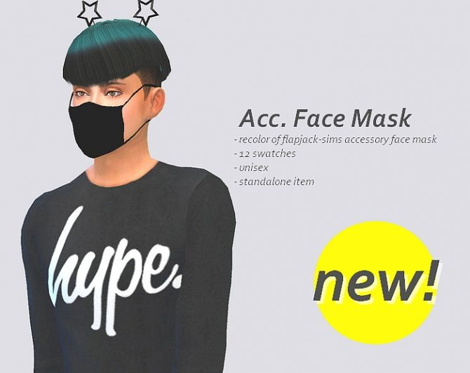 Acc. face mask at SulSulSims via Sims 4 Updates  Check more at http://sims4updates.net/accessories/acc-face-mask-at-sulsulsims/