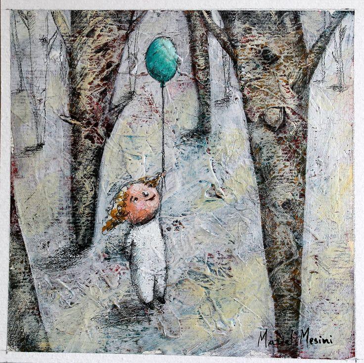 Nel bosco incantato vola il mio palloncino http://www.galleria-galp.it/shop/index.php/artisti/muriel-mesini/nel-bosco-incantato-vola-il-mio-palloncino.html