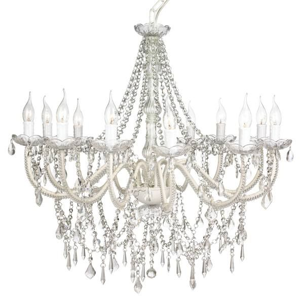 Cassie Chandelier 12 Light Glass Crystals Glass Chandelier