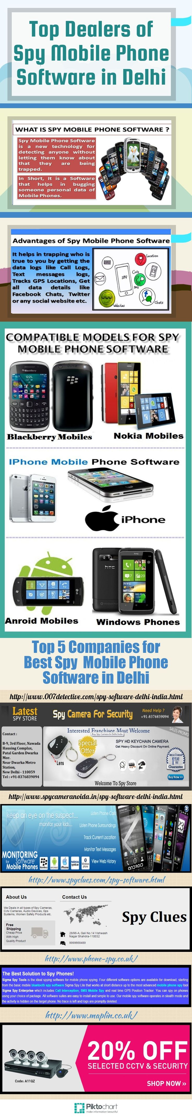 For best quality Spy Mobile Software, Latest Spy Store is best among all other Spy Stores. We provide the best featured Spy Mobile Phone Software with lowest price and heavy discounts. Check out here for more information http://www.007detective.com/spy-software-delhi-india.html