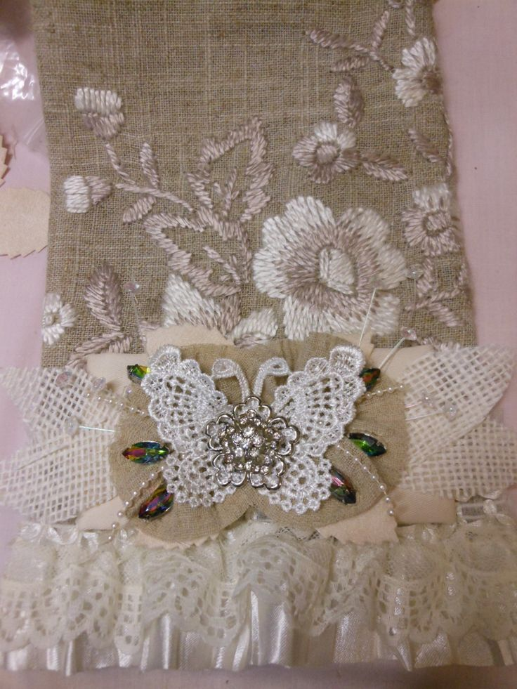 shabby chic lace bag artist jennings644 pinterest. Black Bedroom Furniture Sets. Home Design Ideas