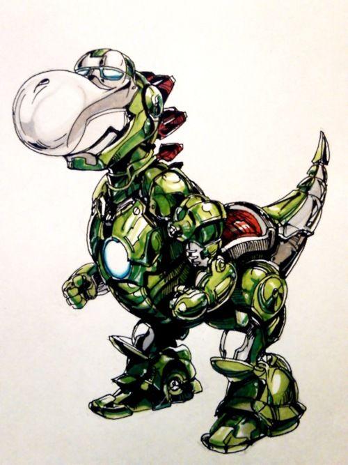 When Yoshi inhaled Iron Man: Inhaled Iron, Iron Man Hahahaha, Mario, Things Yoshi, Game Nerdery, Game Art, Character Mashups, Iron Yoshi