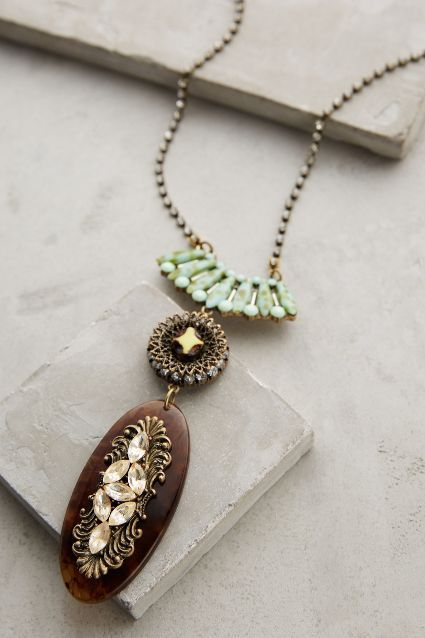New jewelry arrivals - #anthroregistry Tortoise Ballad Pendant Necklace - anthropologie.com