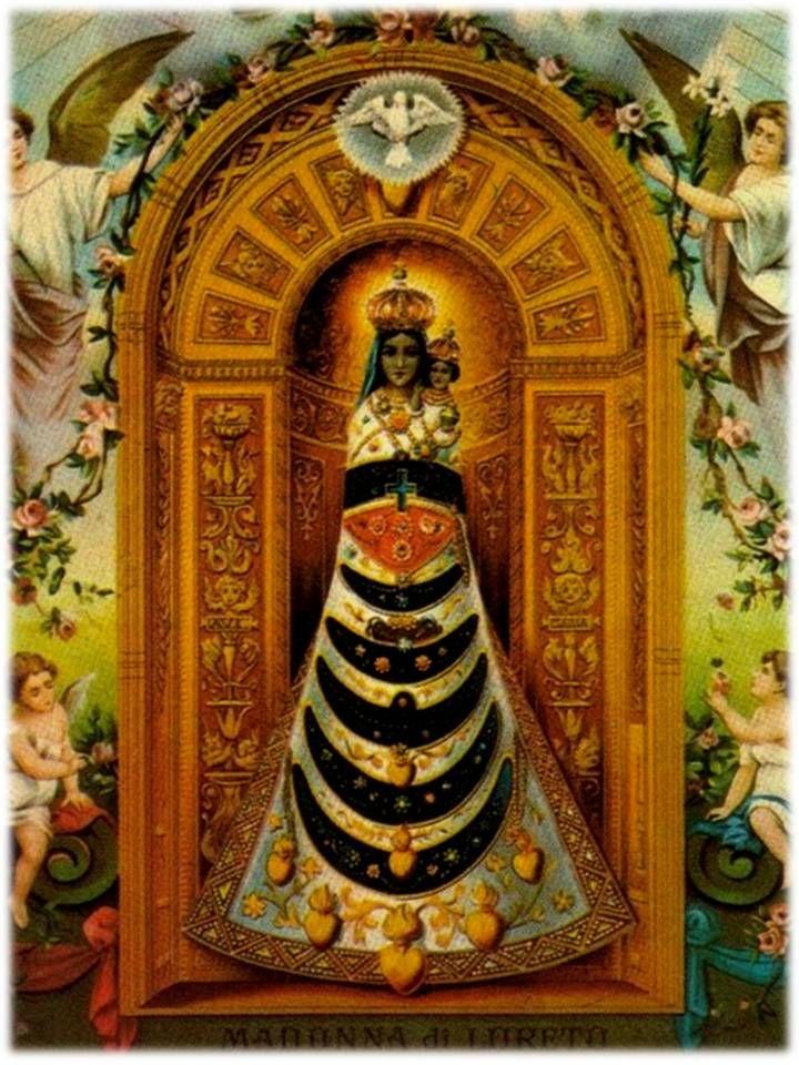 Purísima Y Santísima Virgen María Que Trocasteis El Nombre De Lazaren Con El De Lauretana Por Haber Traspasado Dios Oracion A La Virgen Loreto Arte Religioso