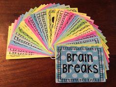 BRAIN BREAKS! 40 fun & creative brain breaks to help students refocus their energy & efforts.