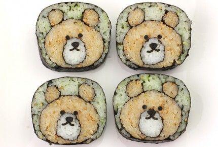 The bear sushi roll