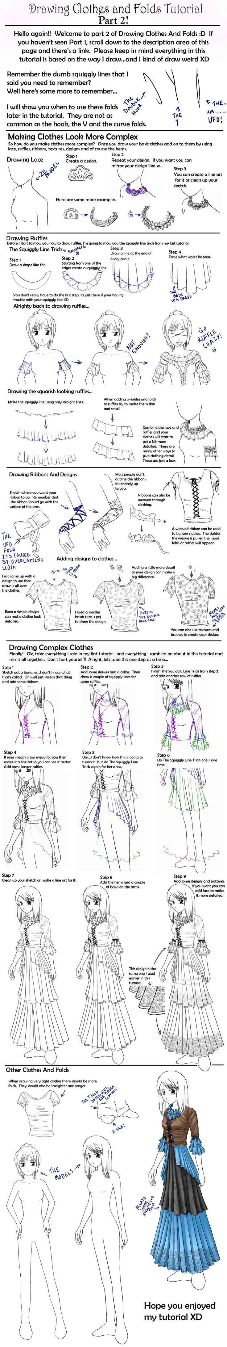 How to draw Clothes tutorial,Manga clothes, Anime Clothes, how to draw fabric, drawing folds, kawaii, girl, Japanese, anime, manga tut Fabric, folds, Japanese fashion