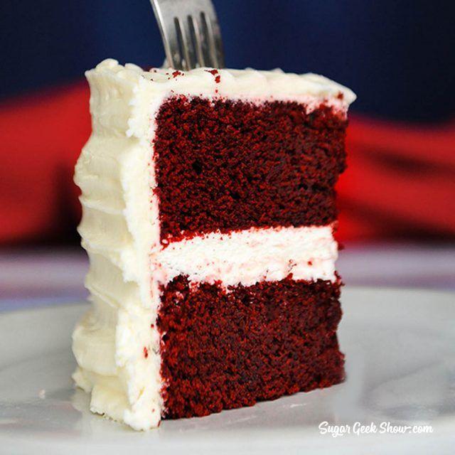 Classic Red Velvet Cake Recipe Cream Cheese Frosting Sugar Geek Show Recipe Red Velvet Cake Recipe Velvet Cake Recipes Cake Recipes