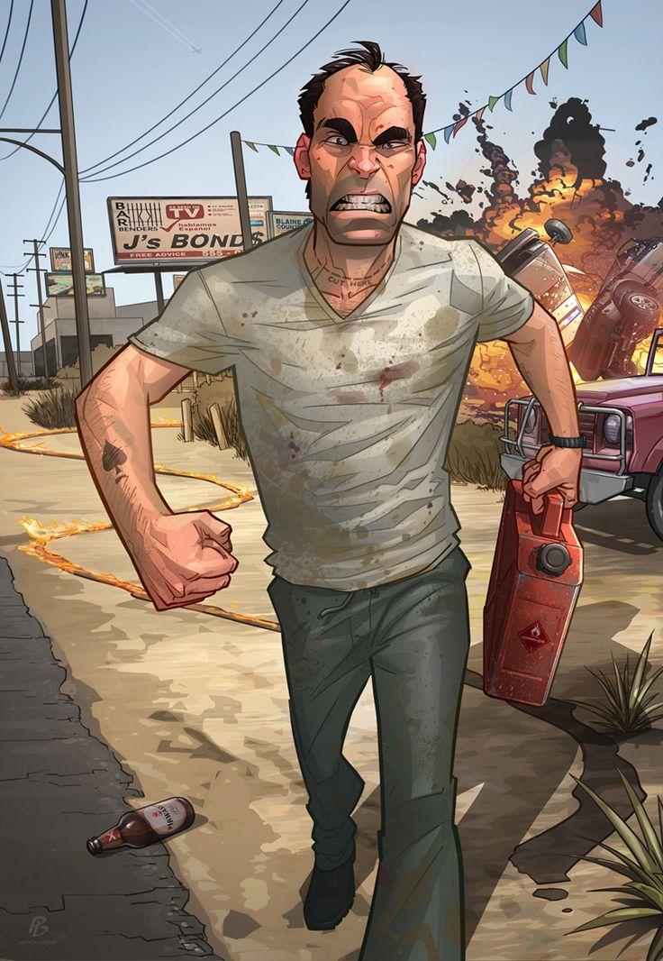 GTA V - Trevor Philips by PatrickBrown.deviantart.com on @deviantART