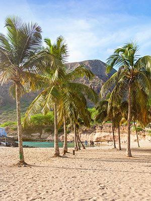Santiago grootste Kaapverdische eiland, strand